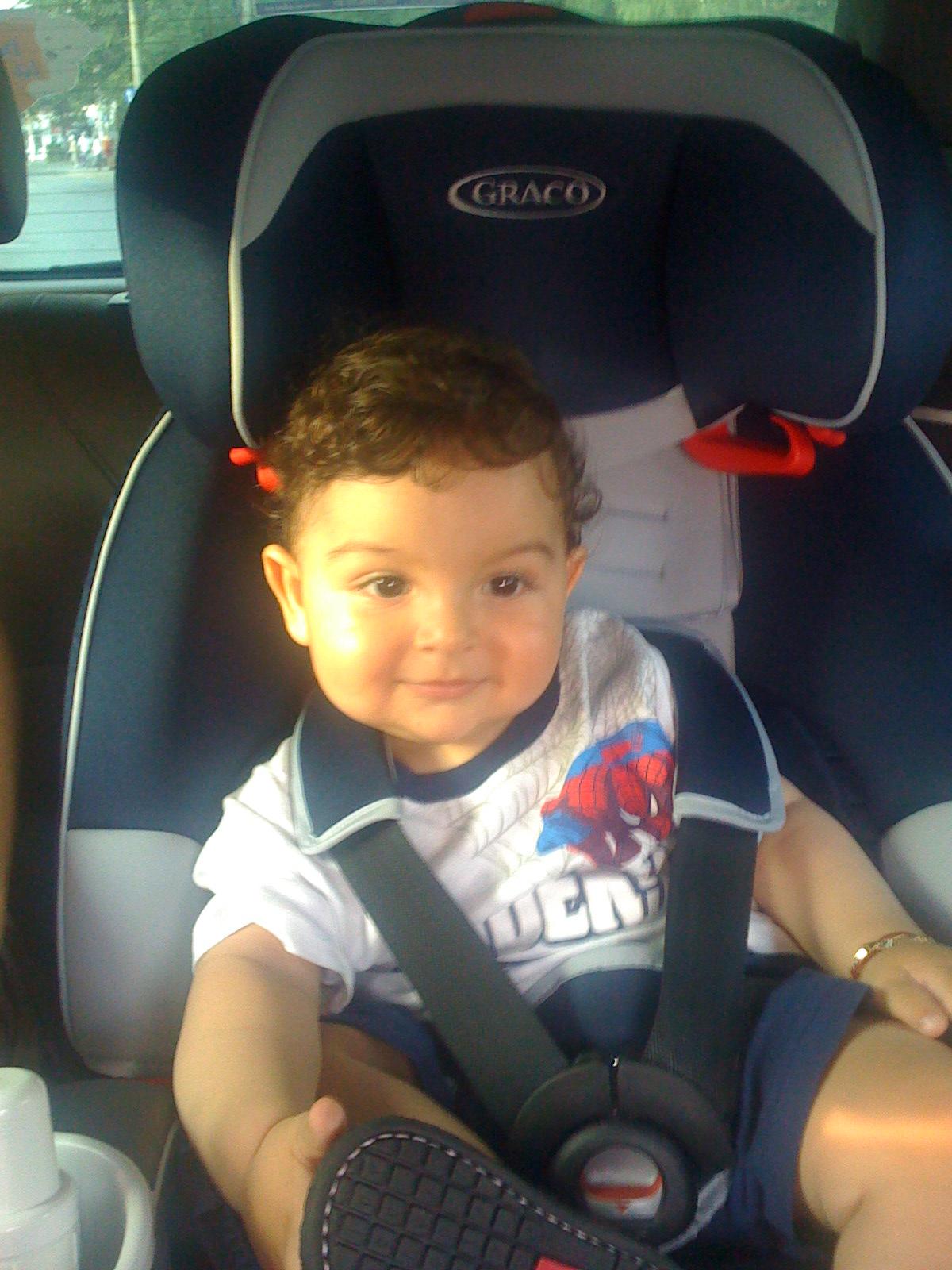 Teddy este pregătit de vacanță! Are super-fotoliu de mașină!