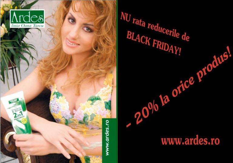 Black Friday lovește până în ultimul minut!!! Profitați de Ardes!!!!