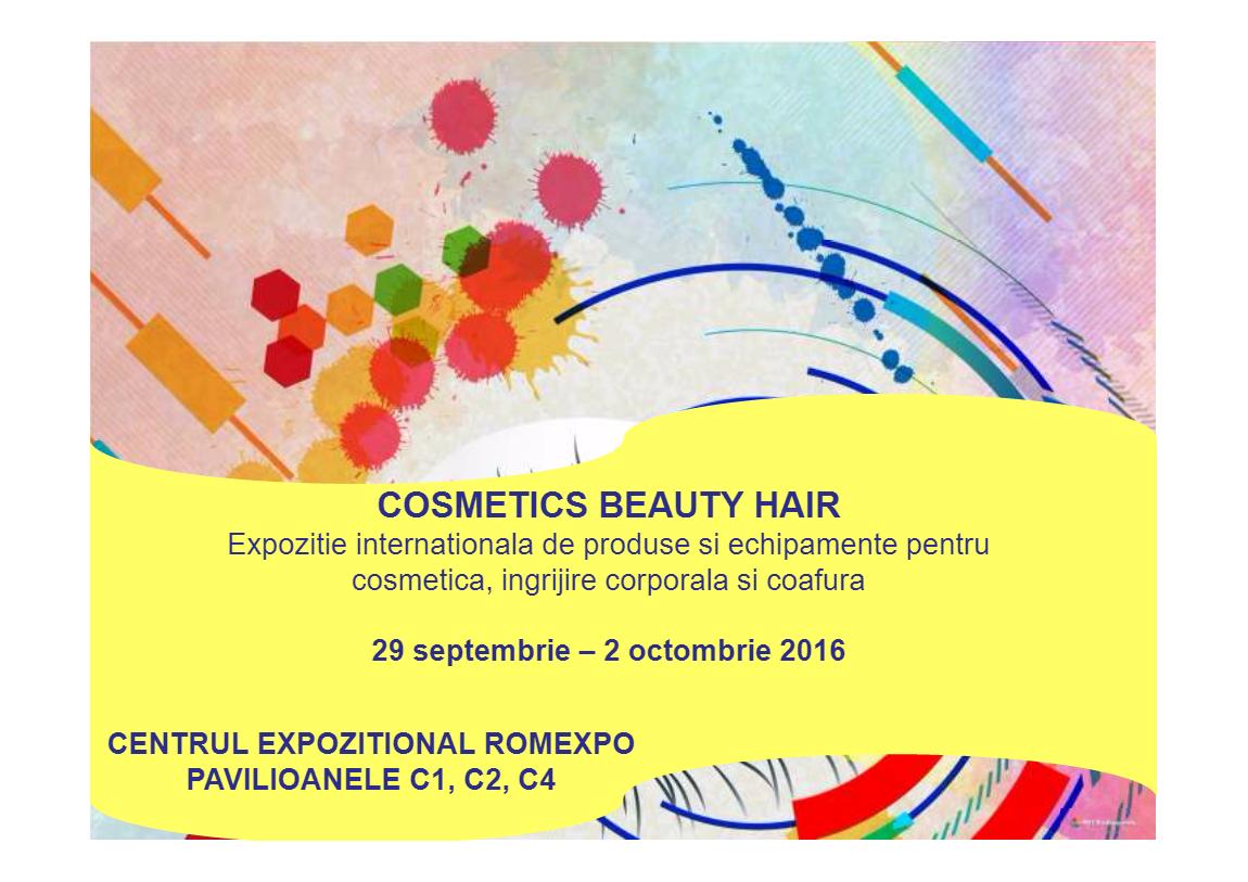 Cosmetics Beauty Hair 2016 – evenimentul anului în materie de frumuseţe!